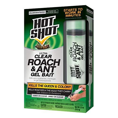 Hot Shot HG-95769 Ultra Clear Roach & Ant Gel Bait, 2.5-Ounce,Multicolor