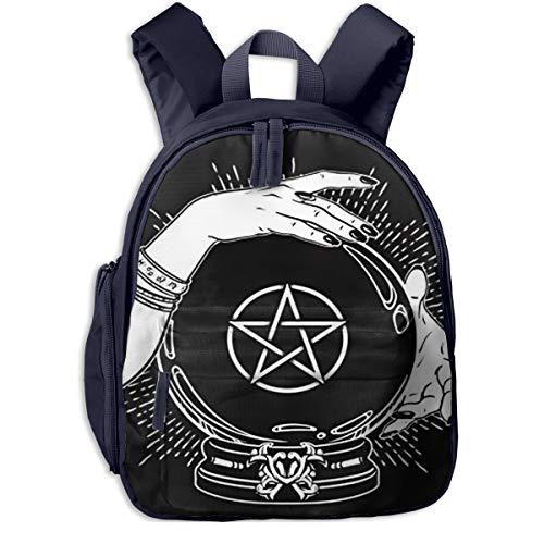 Kinderrucksack Kleinkind Jungen Mädchen Kindergartentasche Magische Kristallkugel Pentagramm Backpack Schultasche Rucksack