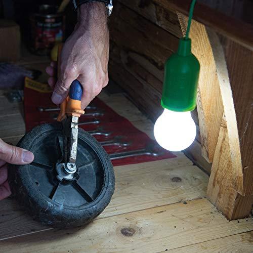 Handy Lux Colors kabellose LED Leuchte in 4 Gehäuse Farben | 8 Stück Lampen | Safe touch Oberfläche | Bruchfest | Garten, Camping, Party, Kleiderschrank | Das Original aus dem TV von Mediashop - 5