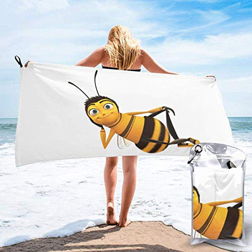 shenguang Bee Printed Travel Quick Dry Bath Towels Sports Gym Microfiber Beach Towels Camping Swimming Compact Towel