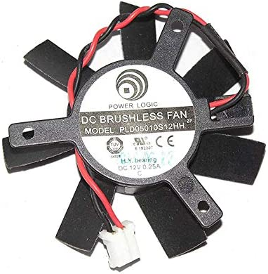 N / A Cooler Fan for Logic PLD05010S12HH 12V 0.25A 2Wire for Sapphire HD7750 Video Fan