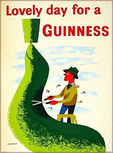 OKWallArt Pintura de diamantes 5D 30 x 40 cm, sello de cerveza Guinness Irlanda, Gran Bretaña, estilo vintage, para viajes, arte