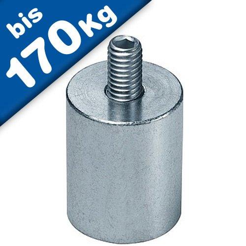 Stabgreifer | Haltemagnet aus Neodym (NdFeB), mit Gewindezapfen, Ø 6mm - 63mm, Größen:Ø 20 | M6x10 | 13.5kg Haftkraft