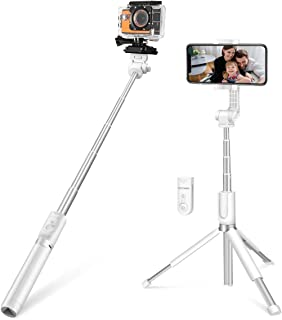Selfie Stick Tripod for Gopro, BlitzWolf 35 inch Extendable Bluetooth Selfie Stick with Wireless Remote for iPhone 11 Pro/...