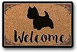 LHM West Highland Terrier - Felpudo para perro Westie (40 x 60 cm)