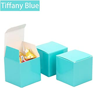 We Moment Tiffany Blue Candy Boxes 2 x 2 x 2 inch Small Square Party Favor Boxes,350gsm,Pack of 50