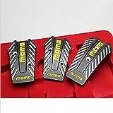 MeterMall Pedal de Freno de Coche Manual Universal Pedal de Deporte de Deslizamiento Antideslizante Negro