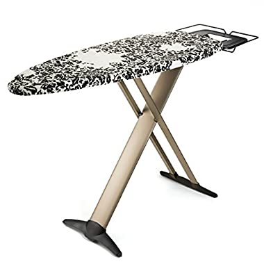 """Bartnelli Pro Luxery Extra Wide ironing board 51x19"""", Steam Iron Rest, Multi layered, T-Leg,European Made"""