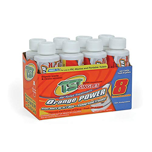 Camco TST Ultra-Concentrated, 8-Pack (4 oz Bottle),TST Orange,41191