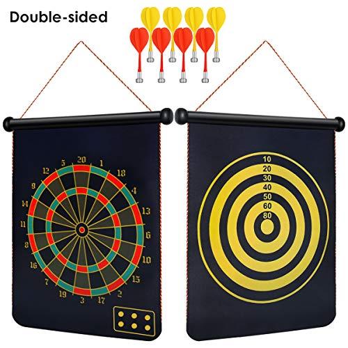 SKMYT Powerful Magnet Dart Board 8 Magnet Darts 15Inch DoubleSided Magnet Dart Board Children#039s Adult Dart Board Game Party Set Gift Box