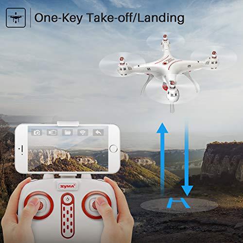 DoDoeleph Syma X8SW FPV Tempo Reale 4 canali di Controllo remoto Quadcopter Drone con Hover Funzione HD Macchina Fotografica di Modalit Senza Testa Bianca