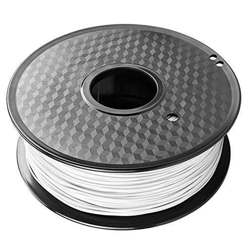 Filamento de impresora 3D 1 kg, filamento de elastómero de TPU flexible de 1,75 mm, utilizado para impresora 3D FDM-Blanco