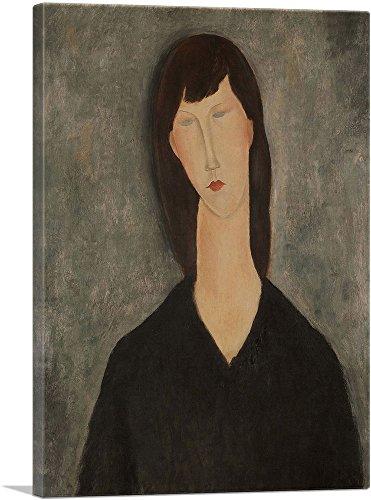 "ARTCANVAS Womans Bust Canvas Art Print by Amedeo Modigliani - 12"" x 8"" (0.75"" Deep)"