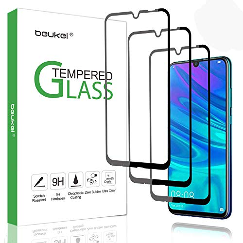 (3-Pack) Beukei for Huawei P Smart 2019/Honor 10 Lite/Honor 20i/Honor 10i Tempered Glass Screen Protector (6.21 inches), Glass with 9H Hardness, for (P Smart Plus 2019), with Lifetime Replacement War