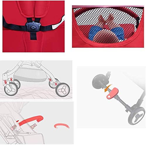 LAMTON Baby Pushchair, Buggy, Pushchairs Baby Stroller Lightweight Baby Pushchairs Portable Baby Pram Foldable Baby Travel Carrier for 0-3 Years,64x101cm (Color : Blue) LAMTON The adjustable 5-point safety harness has comfortable shoulder pads, The sturdy frame has a wider seat which results in a more comfortable ride for your child The stroller can be easily folded, smaller and more portable; the adjustable backrest angle can be seated or lying down, as well as a large shopping basket and caster ★Carbon steel frame, sturdy, lightweight, durable, easy to store and travel 2