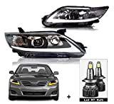 MOSTPLUS Headlight LED DRL Front lamp Compatible for 2010-2011 Toyota Camry with Dynamic Turn Light (Led H7 bulb Included)