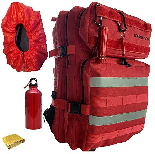 Pack sac à dos Randonnée style militaire Tactique Multifonction Trekking Camping Pêche Escalade Voyage grand volume 45LGourde+Lampe torche UV+Sifflet+housse pluie+couverture de survie+3 mousquetons