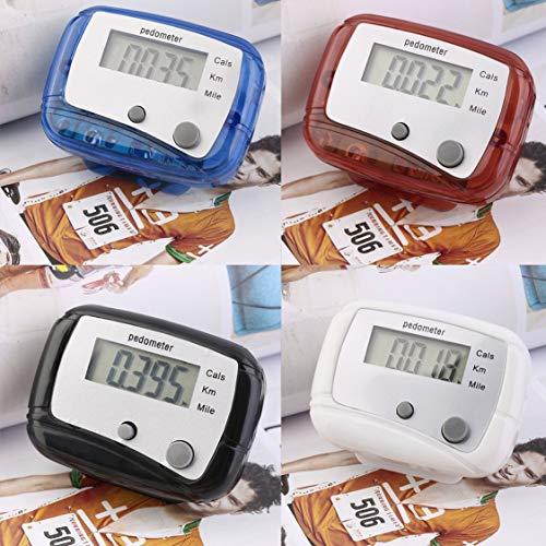 Vige Leichtes Design Gürtelclip für die einfache Verwendung Mini Digital LCD Run Schrittzähler Walking Distance Counter ABS bis zu 99999 Schritte