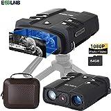 esslnb binocolo visione notturna 10,8x31mm visore notturno caccia 1080p immagine 4 lcd schermo con 64g tf carta foto telecamera video registratore funzione di riproduzione