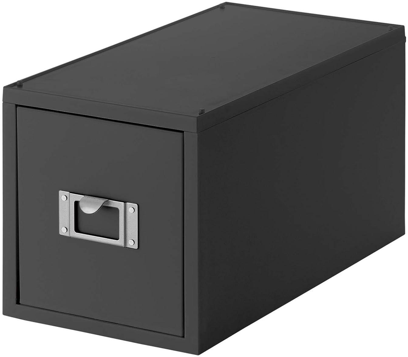 like-it 収納ケース グレー 約幅17.3×奥行35×高さ18.2cm CDファイルユニット Life Module LM-30