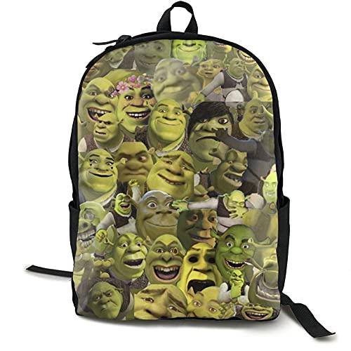 Shrek Collage - Zaino da viaggio per computer portatile, per campeggio, arrampicata, ciclismo