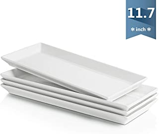 rectangular porcelain plates