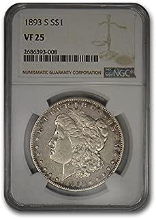1893 S Morgan Dollar VF-25 NGC $1 VF-25 NGC