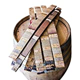 Midwest Barrel Company Authentic Red Wine Oak Barrel Staves, Set of 10 Wide Staves