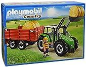 Playmobil - 6130 - Jeu de construction- Tracteur Avec Pelle et Remorque 45 pièces