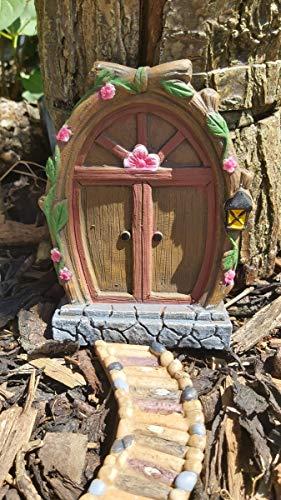 Spindee Porte de fée pour arbres de jardin en résine 16 cm Marron