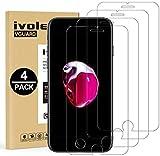 [4 Pack] iVoler Pellicola Vetro Temperato per iPhone SE 2020 / iPhone SE 2 / iPhone 8 / 7 / 6S / 6 [Garanzia a Vita], Pellicola Protettiva, Protezione per Schermo - Transparente