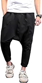 Men Hip Hop Baggy Harem Low Crotch Pants Joggers Sweatpants