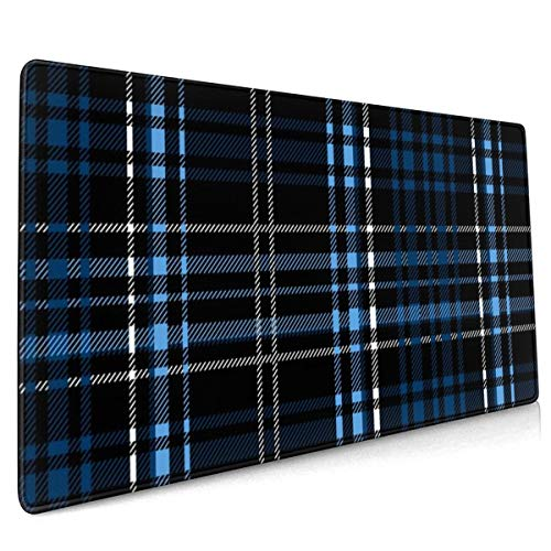 Extend Mouse Pad Tartanplaid Patterndiagonal Background Wallpaperwrapping Papertextile 40 X 90 CM Mouse Mat, Size Gaming Mouse Pad with Water Resistant Surface, Non Slip Rubber Base