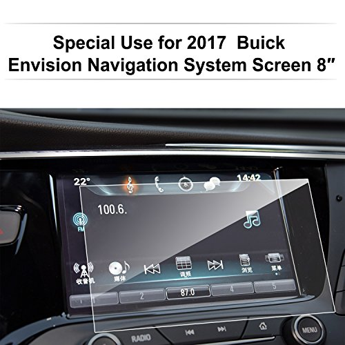 Buick Envision 2017 8-Inch Car Navigation Screen Protector,LFOTPP [9H] Tempered Glass In-Dash Center Touch Display Screen Protector Anti Scratch High Clarity