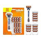 Gillette Fusion 5 Maquinilla de Afeitar Hombre + Cuchillas de Recambio, Regalos Originales para Hombre