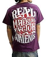 (リアルコンテンツ)REAL CONTENTS tシャツ メンズ 大きいサイズ ティシャツ 半袖Tシャツ ライジングサン ストリート 柄 ブランド ロゴ プリント rcst1201 XXL PURPLE
