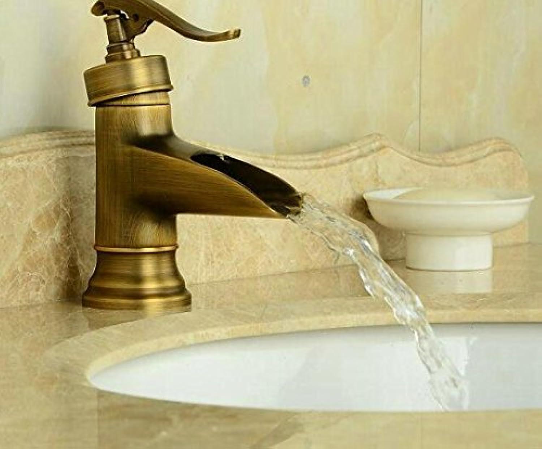 Makej Antique Brass Faucet Bathroom Basin Sink Mixer Bathroom & Kitchen Tap