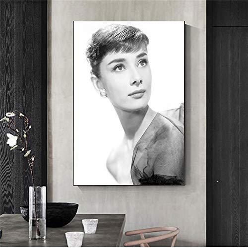 WSNDGWS Beroemde Star Posters en Prints Minimalistische Canvas Schilderen Moderne Kunst Muurfoto Vrouw Huisdecoratie Schilderij Kalligrafie 30x40cm C2