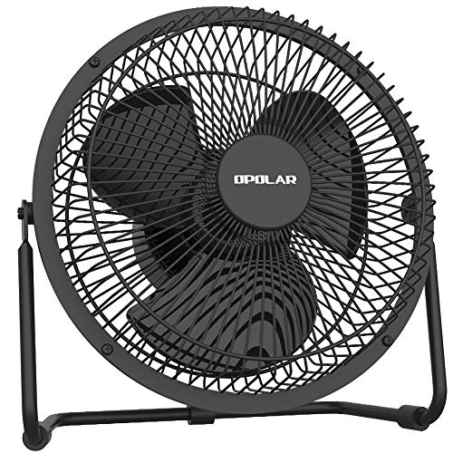 New OPOLAR Battery Operated Desk Fan with Timer, Super Strong Airflow, 4 Speeds, Rechargeble Metal...