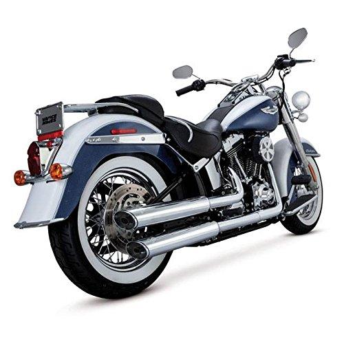 Marmitte Vance & Hines Twin Slash Slip ons 3 1/4'' cromata - OMOLOGATE- Softail FLSTN e FLS OMOLOGATE- Per Harley Davidson Softail FLSTN e FLS Softail Slim dal 2007 al 2014
