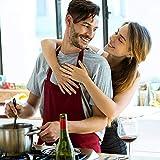 Viedouce 2 Pack Schürze,Wasserdicht Kochschürze mit Taschen,Verstellbarem Küchenschürze,Grillschürze,latzschürze,Küchenschürze für Frauen Männer Chef-Belastbar & Einfach zu Reinigen - 2