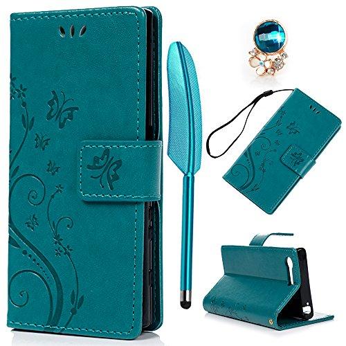 Sony Xperia X Compact Lederhülle, Flipcase, Blau