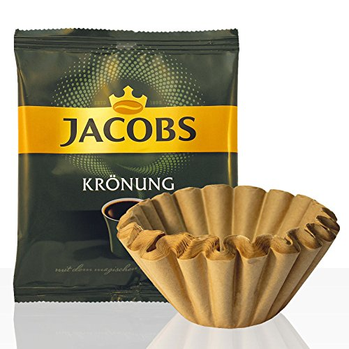 Jacobs Krönung Klassisch 42 x 60g Kaffee gemahlen + 50 Korbfilter, Servicepaket (ehemals Balance)