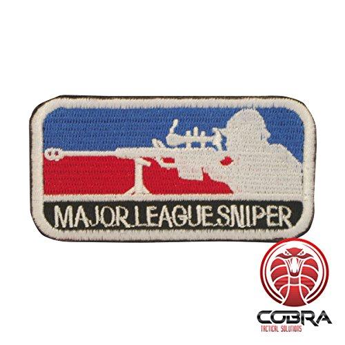 Cobra Tactical Solutions Major League Sniper Military Besticktes Patch mit Klettverschluss für Airsoft Paintball für Taktische Kleidung Rucksack
