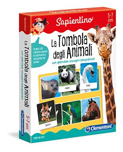 Clementoni - 12690 - Sapientino - La Tombola degli animali - gioco tombola con tessere illustrate - gioco educativo 5 anni - gioco da tavolo - Made in Italy
