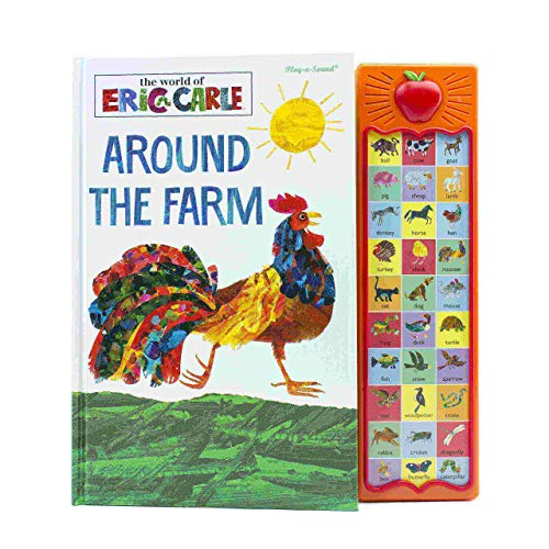 World of Eric Carle, Around The Farm 30-Button Sound Book - PI Kids - Hardcover by Mark Rader