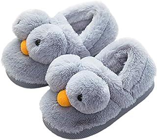 Toddler Boys Girls Slippers Fluffy Little Kids House Slippers Warm Fur Cute Animal Home Slippers