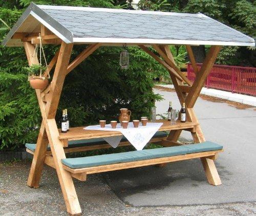 mumba Partyfreisitz aus Holz Partyhütte Waldschänke Made in Germany (Sachsen) Wird komplett montiert geliefert (UNBEDINGT Anlieferungshinweis unten lesen!) (Erwachsene, Holz 1)