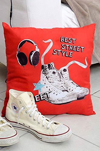 Déco-de-maison Coussin - 40 x 40 cm - Best Street - Baskets & casque