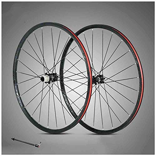 ZHTY 29 inch Bicycle wheelset Double Wall Aluminum Alloy Mountain Bike Wheels Rim disc Brake Quick Release 24 Holes 8,9,10,11 Speed Bike Wheels